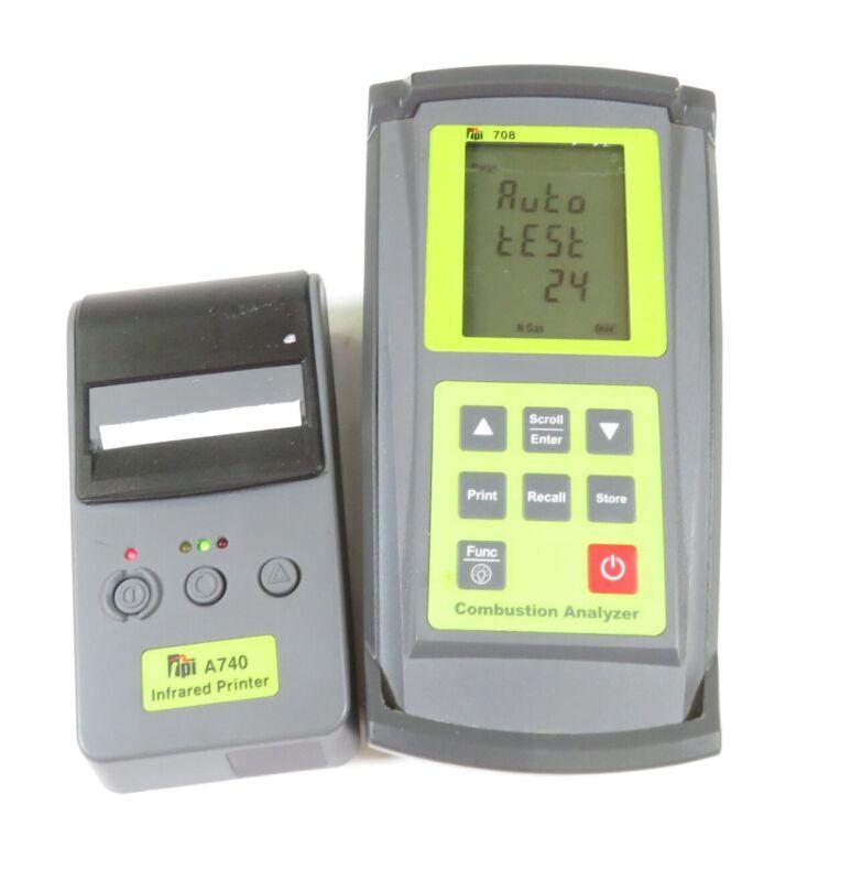 TPI 708 Combustion Flue Gas Analyzer Meter w/ A740 Infrared Printer