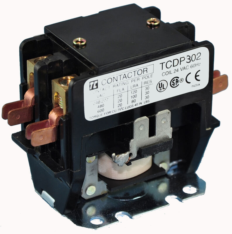 TCDP302-G6 (120 VAC) 30AMP DEFINITE PURPOSE 2-POLE CONTACTOR