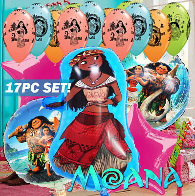 DISNEY MOANA PRINCESS BIRTHDAY PARTY BALLOONS DECORATION SUPPLY LUAU ALOHA](Princess Birthday Party Decorations)