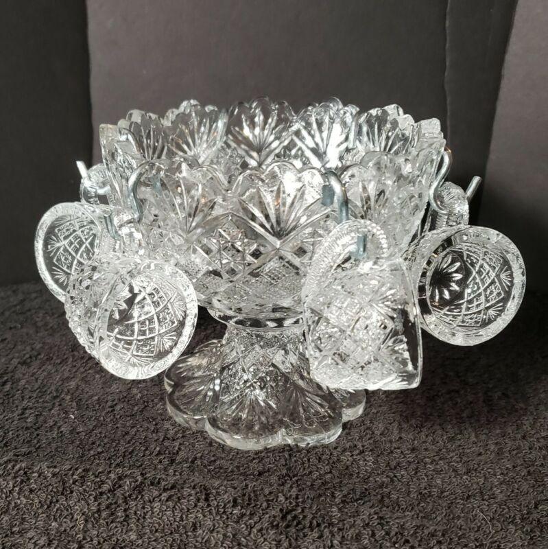 Vintage 1984 Westmoreland Glass Company Diamond Sunburst Mini Childs Punch Bowl