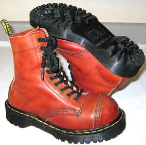 doc dr martens 8761 10 eye steel toe leather airwair shoe