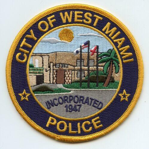 WEST MIAMI FLORIDA FL POLICE PATCH