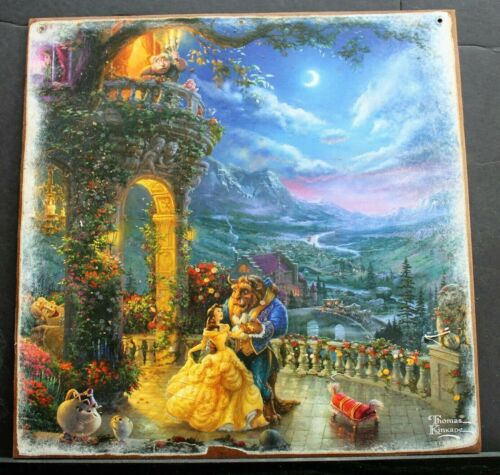 BEAUTY & THE BEAST Handmade Walt Disney World vintage sign