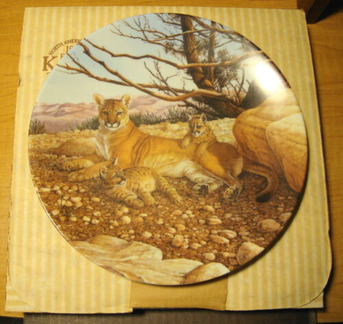 Great Cats Of The Americas The Cougar 1989 - Knowles Name in Fine China