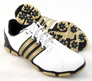 NEW-Adidas-Mens-Tour-360-4-0-Golf-Shoes-White-Black-Gold-Size-10-5-M-RETAIL-180
