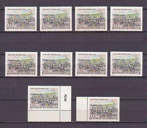 1964 , 10 x Internationale Briefmarkenausstellung WIPA 1965 ( Mi.Nr.: 1169 ) ** - Frohnleiten, Österreich - 1964 , 10 x Internationale Briefmarkenausstellung WIPA 1965 ( Mi.Nr.: 1169 ) ** - Frohnleiten, Österreich