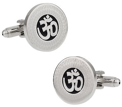 Symbol Cufflinks Cufflinks - Om Symbol Cufflinks Direct from Cuff-Daddy