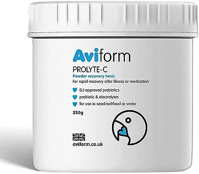 Aviform Prolyte 250g Pigeons Prebiotic Probiotic Electrolytes Bird Supplement
