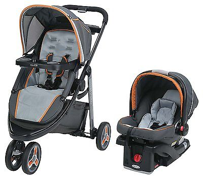 Graco Modes Stroller & Snugride 35 Car Seat, Sport Travel System Tangerine New!