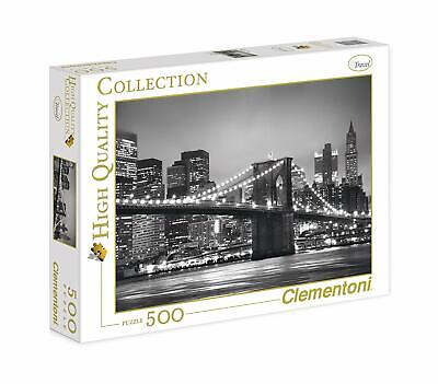 CLEMENTONI - 30169 - PUZZLE HIGH QUALITY - TRAVEL - NEW-YORK BY NIGHT 500pcs