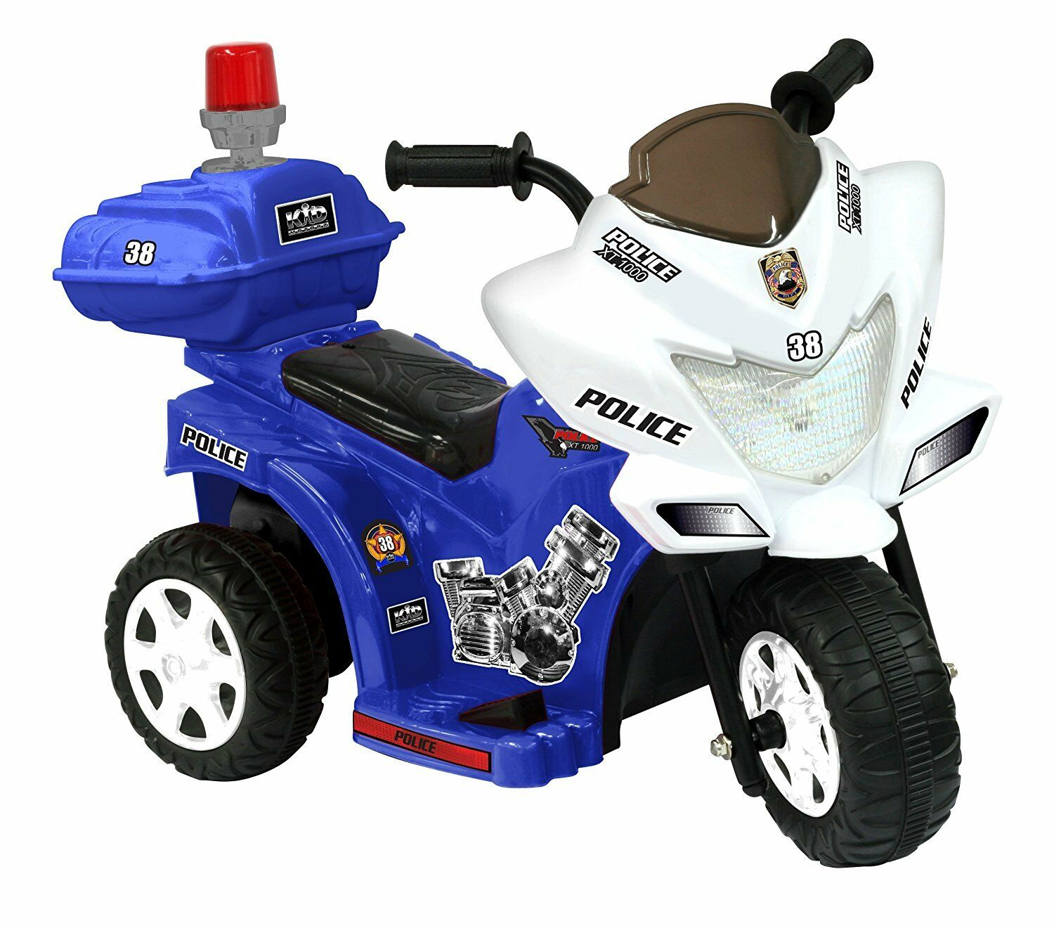 Kids Electric Police Motor Patrol 6V Toddler Ride Outside Mo