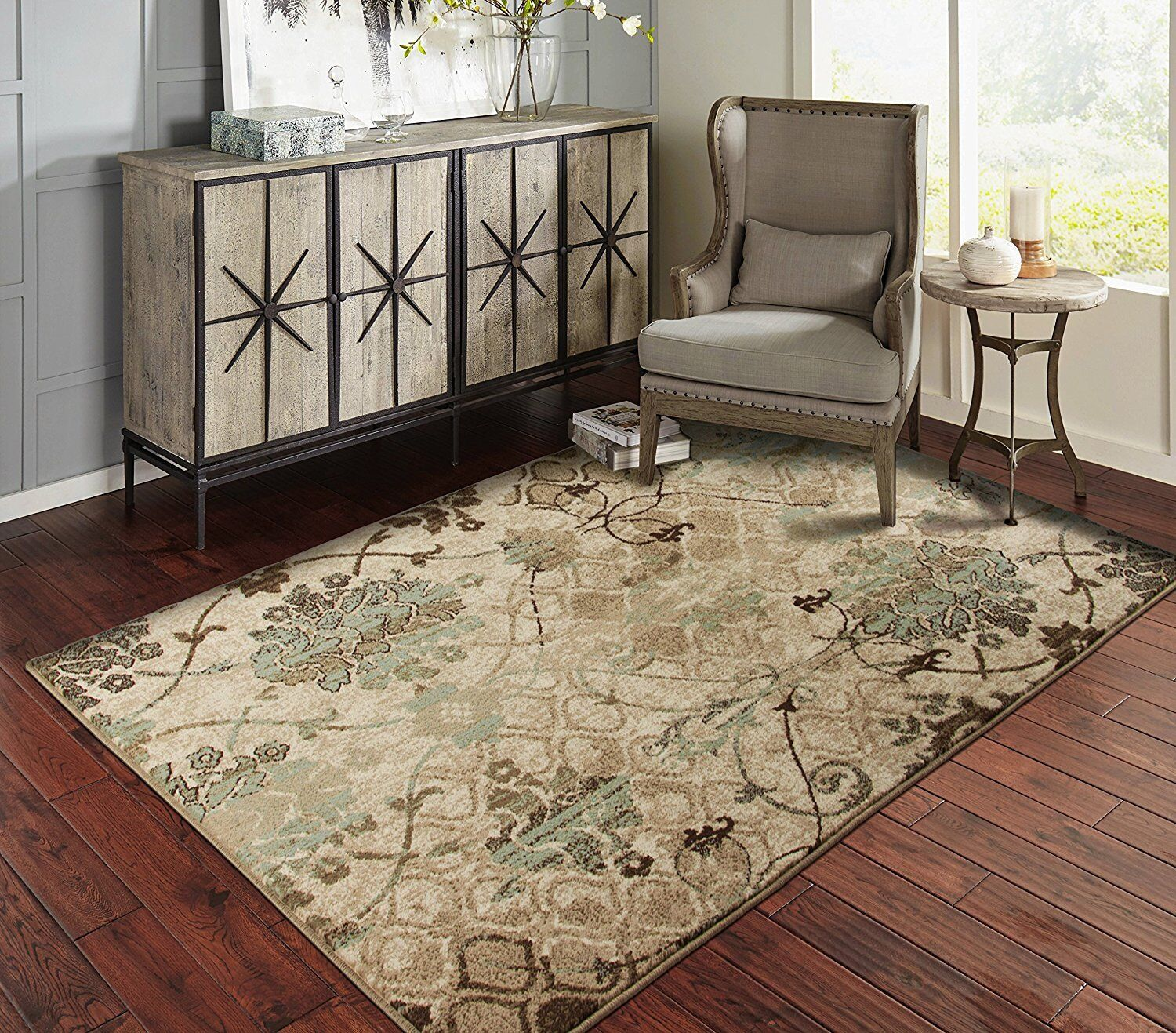 Modern Area Rugs for Living Room 8x10 Floral Modern Rug 5x8