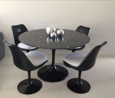 Brand New Italian Marble Dining Table 4x Chairs