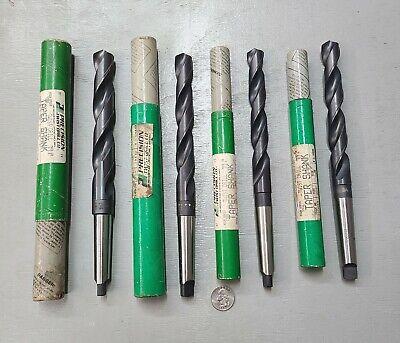 Lot 3 Precision Twist Drill 2532 78 34 4764 Hss Bit 2 Taper Shank Usa
