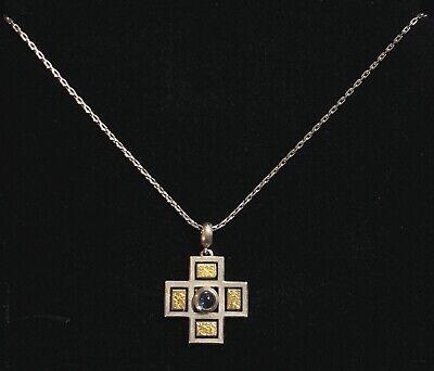Cabochon Cross 925 Necklace