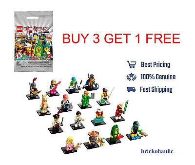 Lego Series 20 Minifigures 71027 Pea Pod Pajama Llama Girl Pinata Boy Viking
