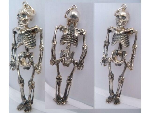 Silber  Anhänger memento mori skelett