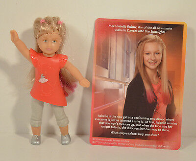 """2014 Signature Isabelle 3.5"""" Action Figure #1 McDonald's American Girl Doll"""