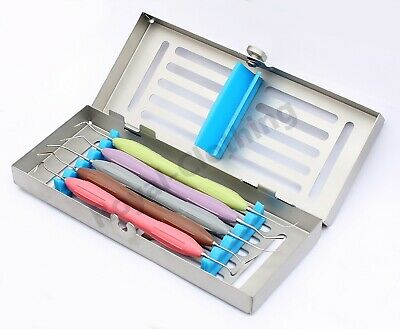 Dental Composite Instruments Tooth Filling Silicone Handle 5 Pcs Set
