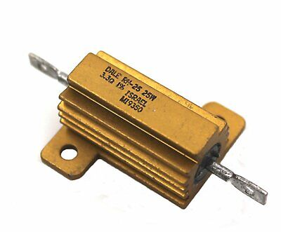 Dale Rh-25 Gold Block Power Resistor 3.3 Ohms 25w 1 - Lot Of 1 3 Or 10