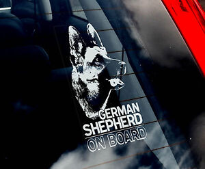 German-Shepherd-Dog-Car-Sticker-Alsation-Sign-n-Collar