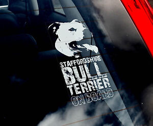 Staffie - Dog Car Sticker - Staffordshire Bull Terrier