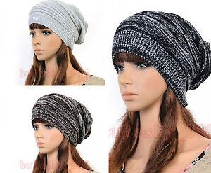 New-Unisex-Hip-hop-Style-Winter-Baggy-Beanie-Knit-Crochet-Bowknot-Hats-3-Color