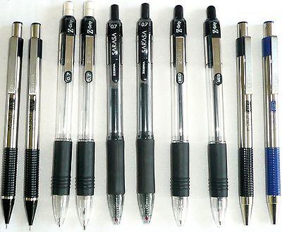 Set Of 6 Zebra Retractable Pens And 4 Zebra Mechanical Pencils New
