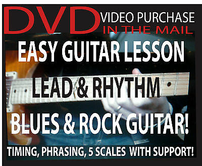 Electric Guitar Learn How to Play Rock & Blues Lessons Video DVD on Rummage