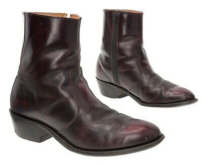 VTG ACME Ankle Boots 10 D Mens Leather Dress Beatle MOTORCYCLE Boots Union Made