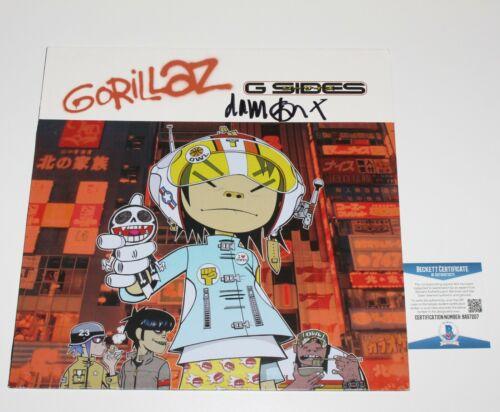 GORILLAZ DAMON ALBARN SIGNED G-SIDES ALBUM VINYL RECORD LP BECKETT COA B-SIDES