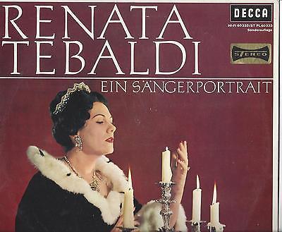 Renata Tebaldi auf Decca - Ein Sängerporträt - 25 cm LP aus den 60er Jahren