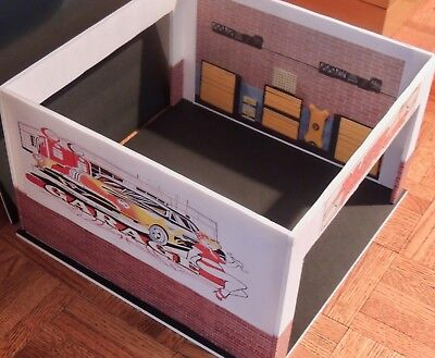 CUSTOM BUILT TWO CAR GARAGE 6 PCS.KIT READY TO DISPLAY WITH 1:18 Scale Cars! ()