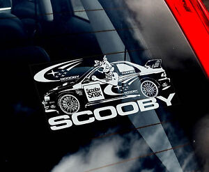 Scooby Impreza - Car Window Sticker - Subaru World Rally WRC STI WRX 555 Snax