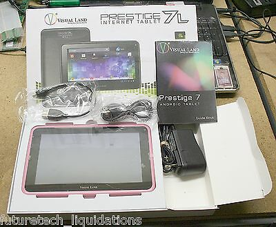 FOR PARTS - VISUAL LAND PRESTIGE 7L 8GB ANDROID (PINK) TABLET