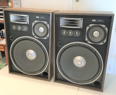 Pair of SANSUI SP-X8700 4-way speaker system. Working Condition, PICK UP ONLY!!