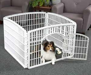 Exceptional Large Indoor Outdoor Dog Pet Playpen Exercise Pen Play Yard Cage Kennel  Fence