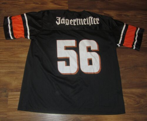 Jagermeister Mens Jersey, #56, Printed On, Black, Polyester, Size L, EUC