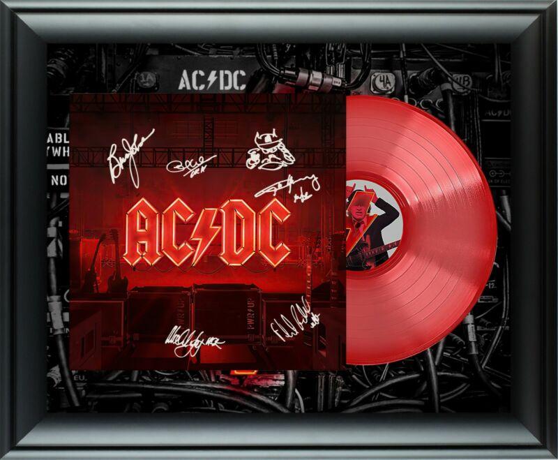 AC/DC AC DC Autographed RARE Ltd Edition Red Vinyl