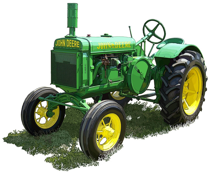 John Deere GP canvas art print by Richard Browne farm tractor
