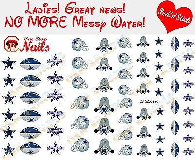 Dallas Cowboys Clear Vinyl PEEL and STICK (NOT Waterslide) nail decals/stickers](Dallas Cowboys Nail Stickers)