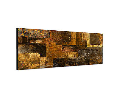 Panoramabild -150x50cm  abstrakte Geometrie  Keilrahmenbild Leinwand modern