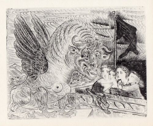 Pablo Picasso, Harpy with Head of a Bull, and Four Little Girls, Vollard Suite