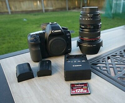 Canon EOS 5D Mark II w/ Canon USM 24-105 Lens, 2 Batteries, Charger & 128gb Card