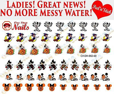 Disney Halloween Nail Decals (Disney Halloween Clear Vinyl PEEL and STICK Nail Decals NOT)