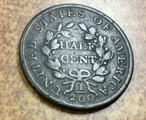 1803 HALF CENT C-1 state 3 VG-F