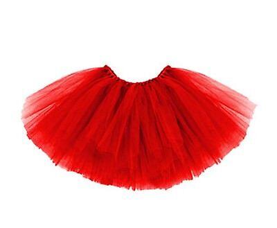 Tütü Tutu Tüllrock Ballettrock Ballet Rock Petticoat Balletkleid 3-lagig Rot