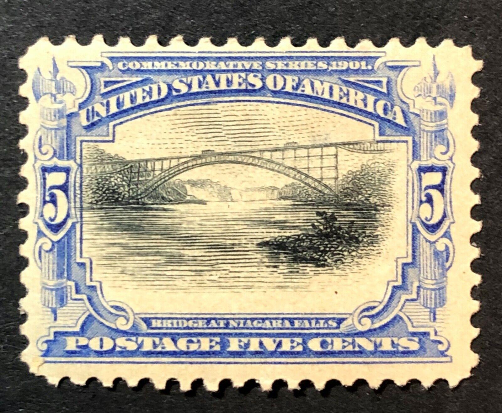 Scott 297 MH 5Cent US Pan American Expo 1901 Sm Thin - $5.50