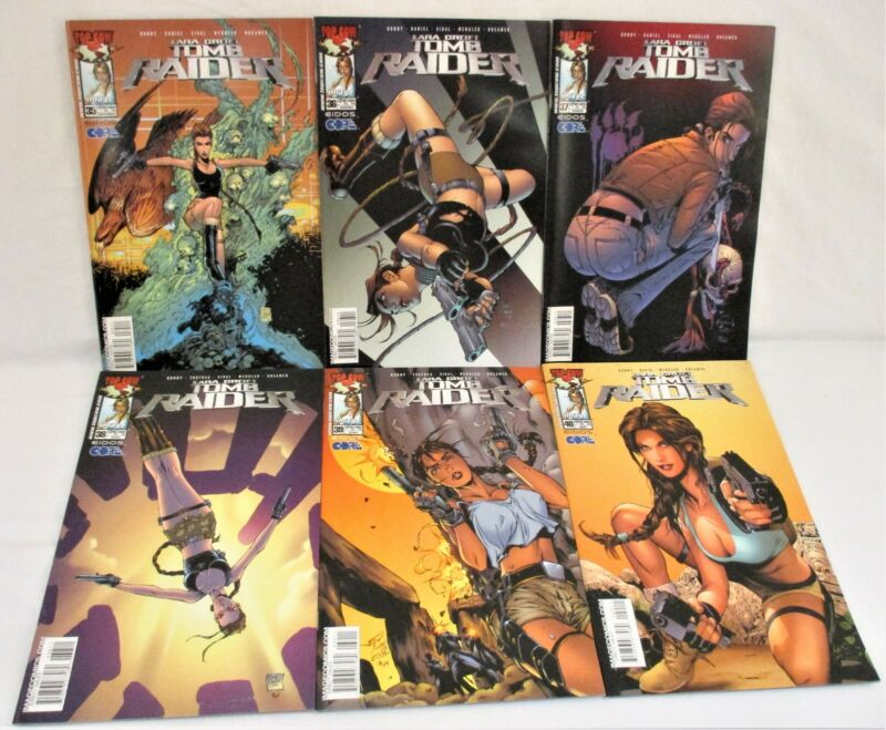 Tomb Raider #35 36 37 38 39 40 Comic Lot Tony Daniel Top Cow Image 2003-2004