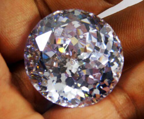 162.00Ct  Natural Round Cut Cambodian White Zircon Loose Gemstone 2756